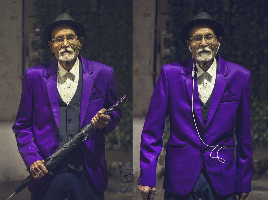 Стиль и мода творят чудеса: внук превратил своего 96-летнего дедушку-фермера в настоящего денди (9 фото)