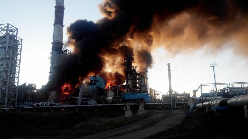 ВУфе впожаре  нанефтеперерабатывающем заводе погибли трое рабочих