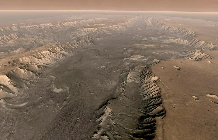ВNASA обозначили место наМарсе, где возможна жизнь