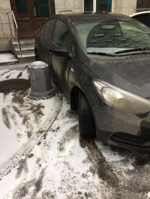 Практически анальная кара за неправильную парковку