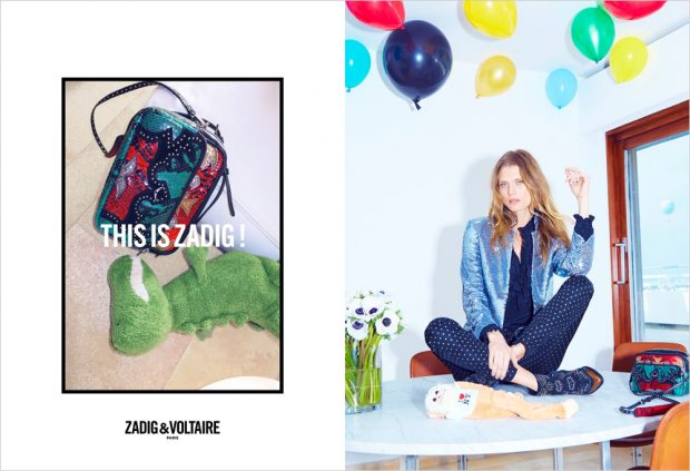 Polish supermodel Malgosia Bela stars in Zadig & Voltaire 's Fall Winter 2016.17 advertising c