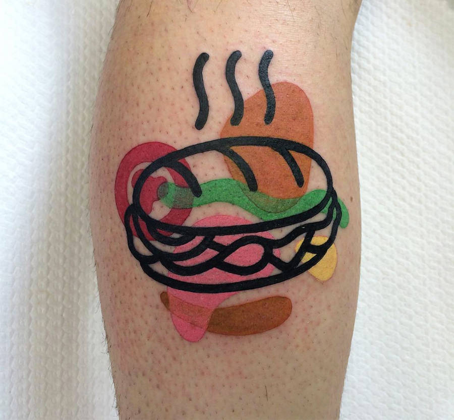 Deconstructed Colorful Tattoos