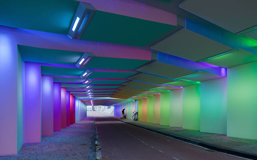 Immersive Light Installation in a Tunnel