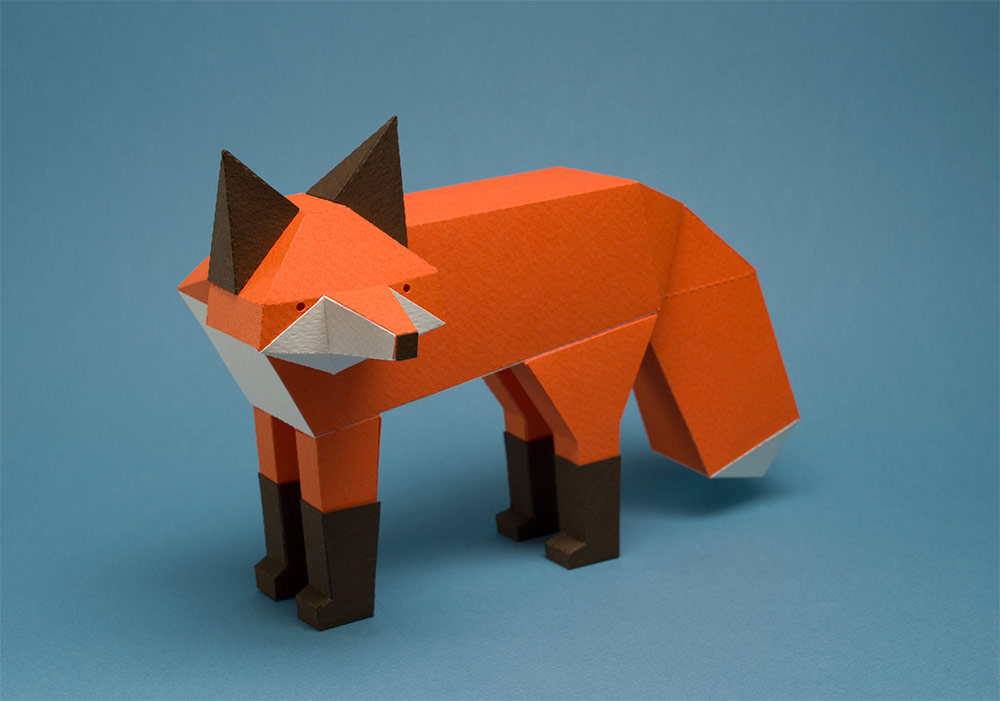 New Geometric Paper Cats and Other Creatures by Estudio Guardabosques