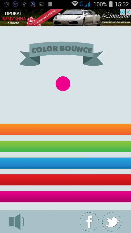 Color bounce - HTML5 game. Construct 2 + cocoon ADS (AdMob)