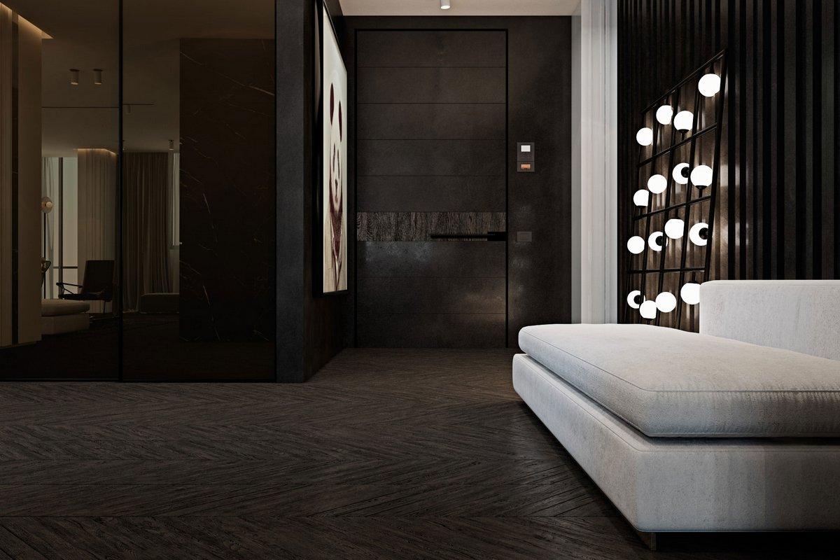 Темный интерьер квартиры