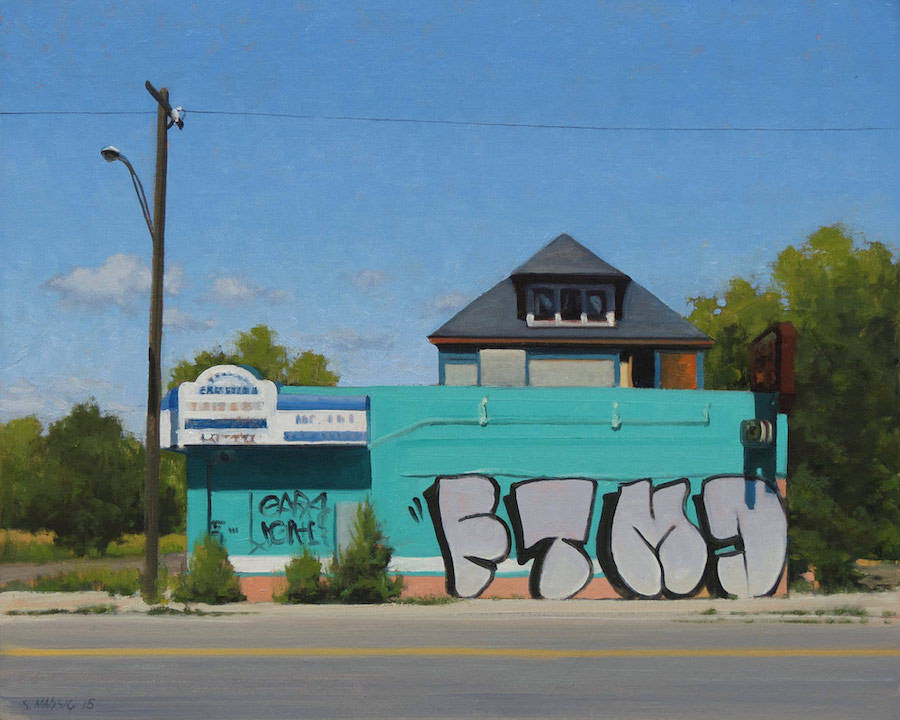 Realistic Paintings of Detroit by Stephen Magsig