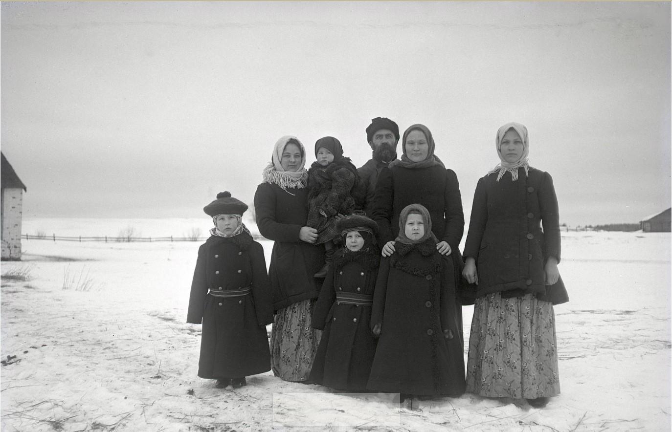 1910-е. Семья с детьми