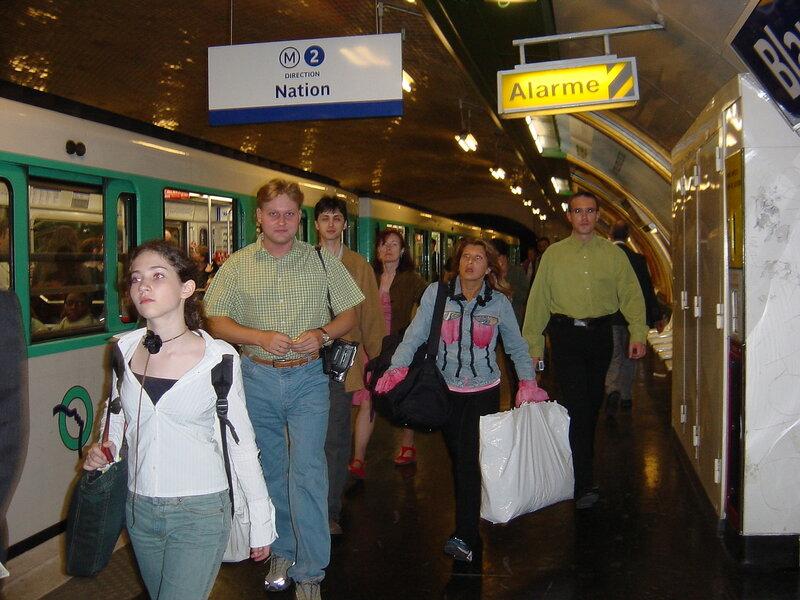 Франция, Париж, метро