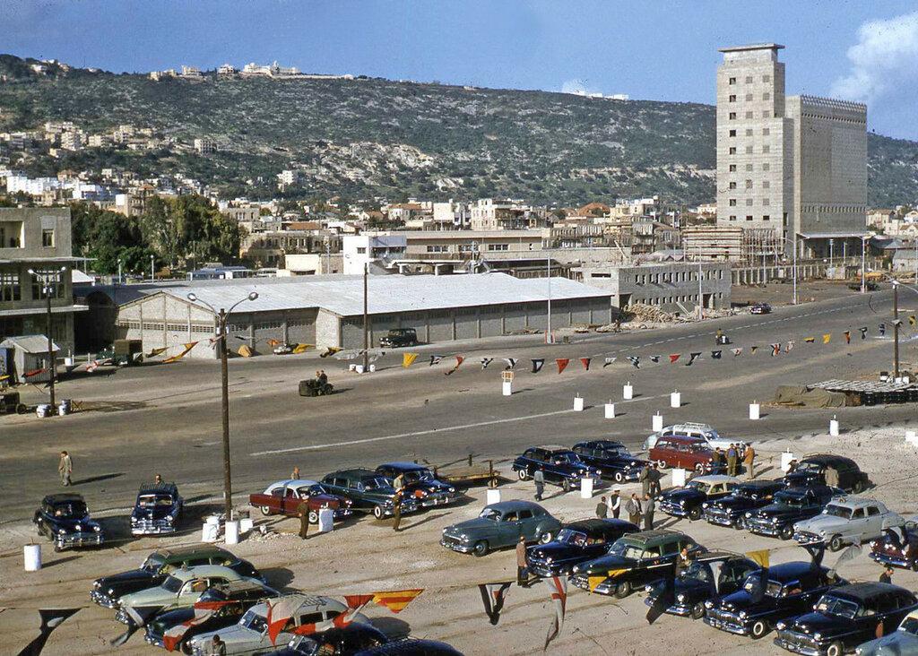 1950s Israel Haifa Mt. Carmel Grain Elevator.JPG