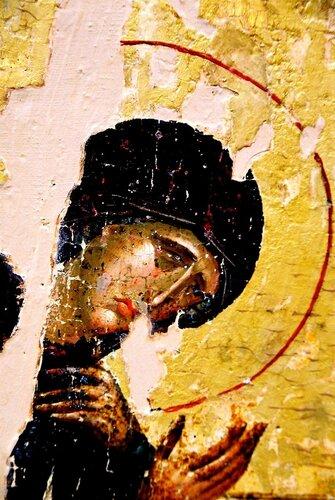 Распятие Господне. Византийская икона XIV века.