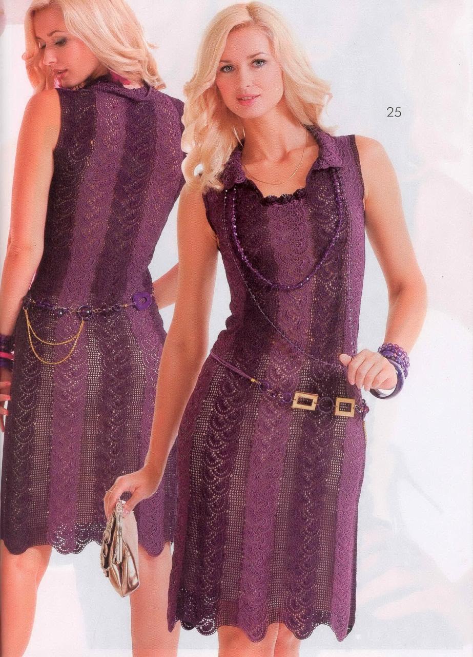 Фото платья из ленточное кружево крючком