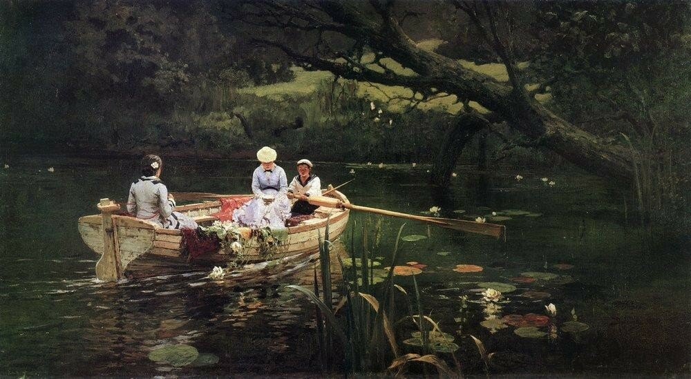 На лодке. Абрамцево. 1880.jpg