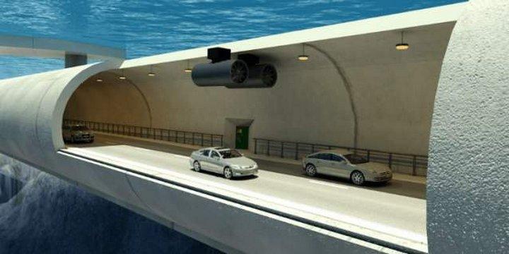 В Норвегии планируют построить первые в мире подводные плавающие мосты на глубине 30 метров под водо