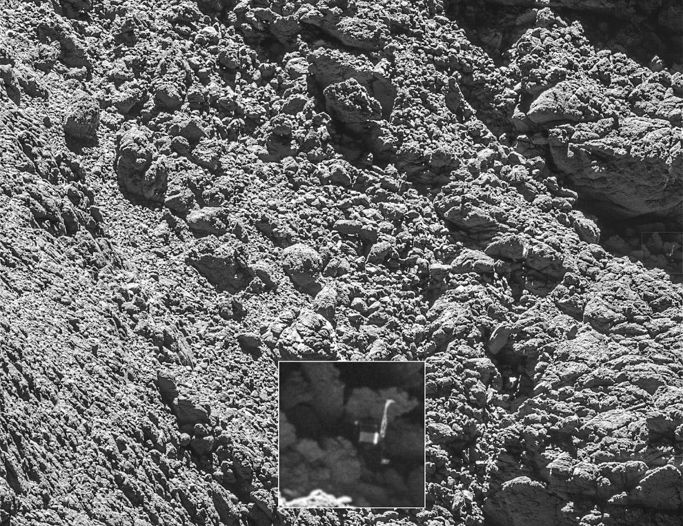 15. Комета Чурюмова — Герасименко, снятая с расстояния всего 29,9 км. Согласно последним оценка