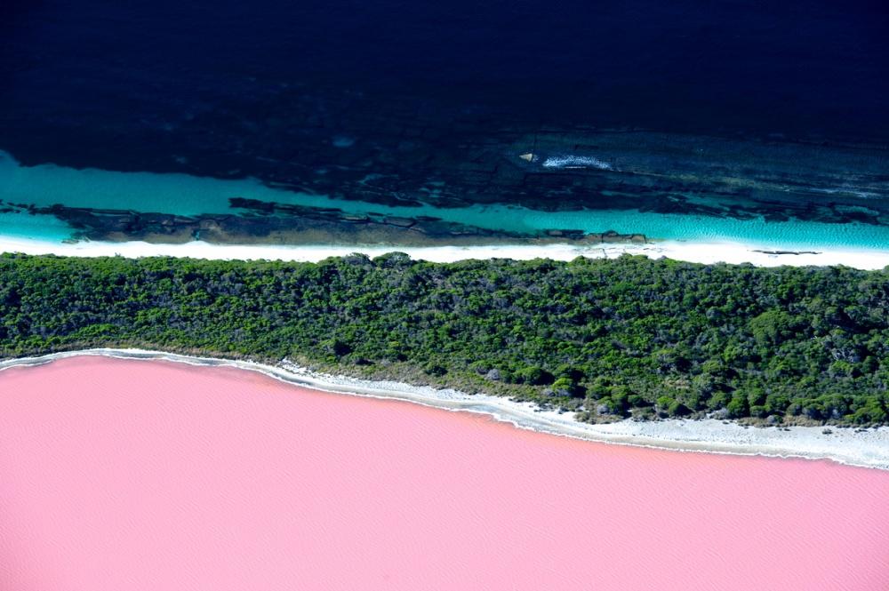 Розовое озеро Хиллер.