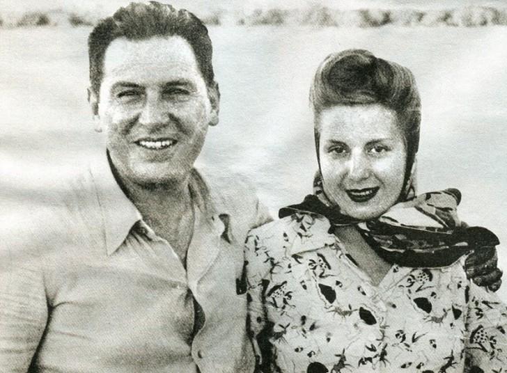 Президент Аргентины Хуан Перон и Эвита Дуарте В то же время от первой леди доставалось аргентинским