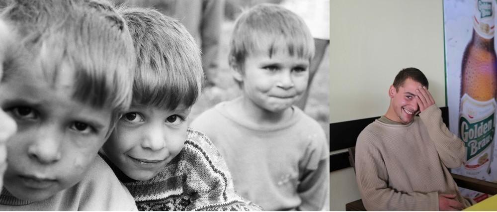 Георге «Додо» Стингациу (на левой части фото – мальчик в центре) в 1995 году было 5 лет. На фото спр