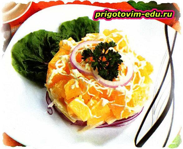 Салат «Апельсины в майонезе»