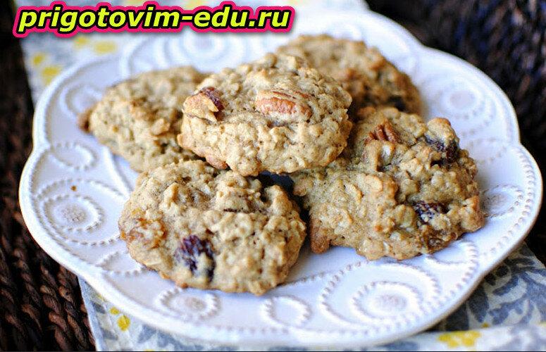 Десерт овсяный с орешками