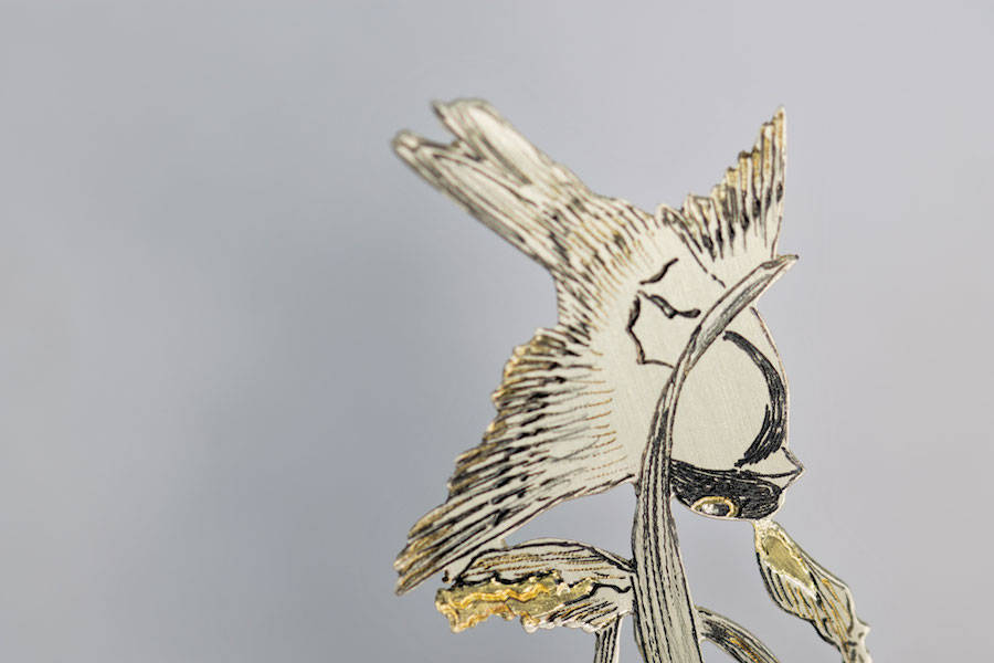 Poetic Hand-Cut Silver Bookmarks
