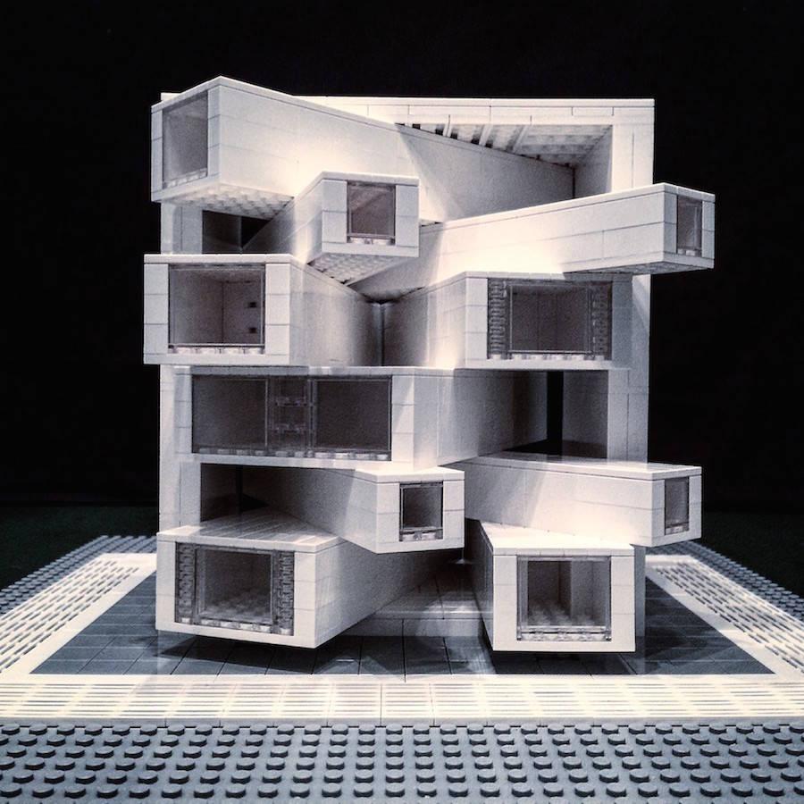 LEGO Brutalist Buildings Sculptures