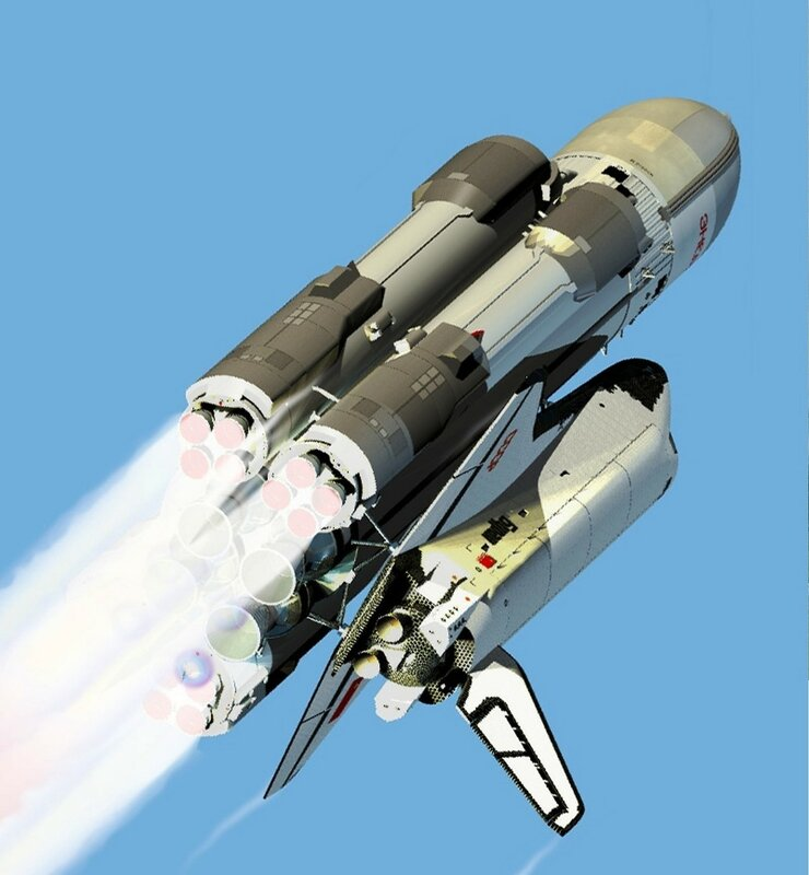 Буран - советский крылатый орбитальный корабль многоразового использования....jpg