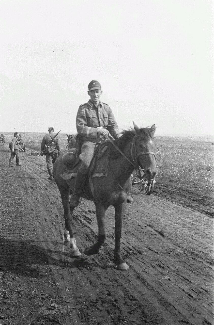 Немец на лошади