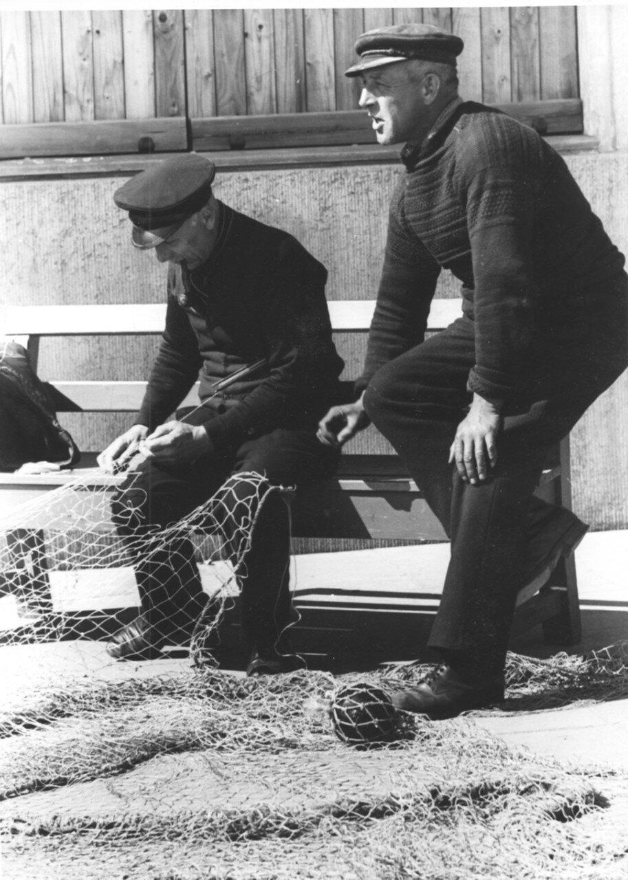 Гельголанд. Рыбаки