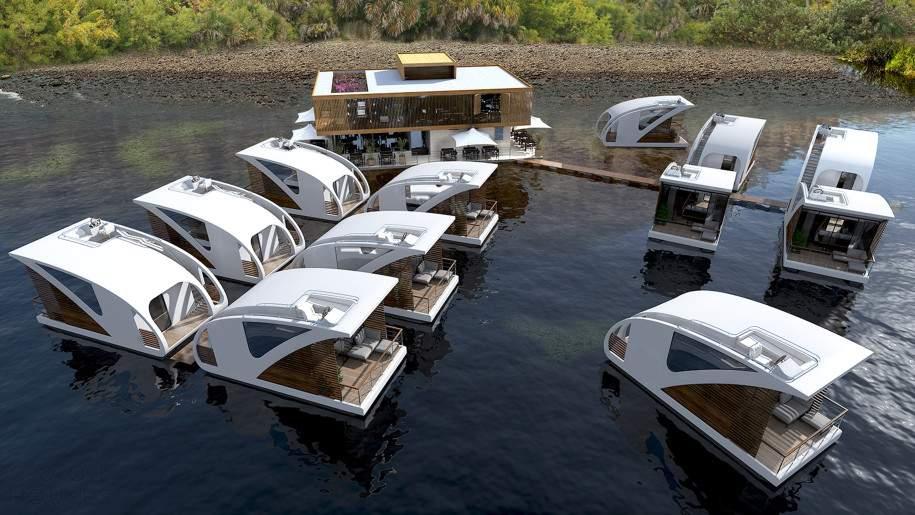 Проект отеля на воде в Сербии