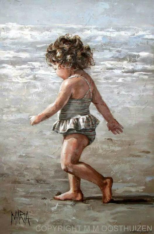 Только в детстве платье было сказкой, с голубой, небесною окраской! Maria_Magdalena_Oosthuizen