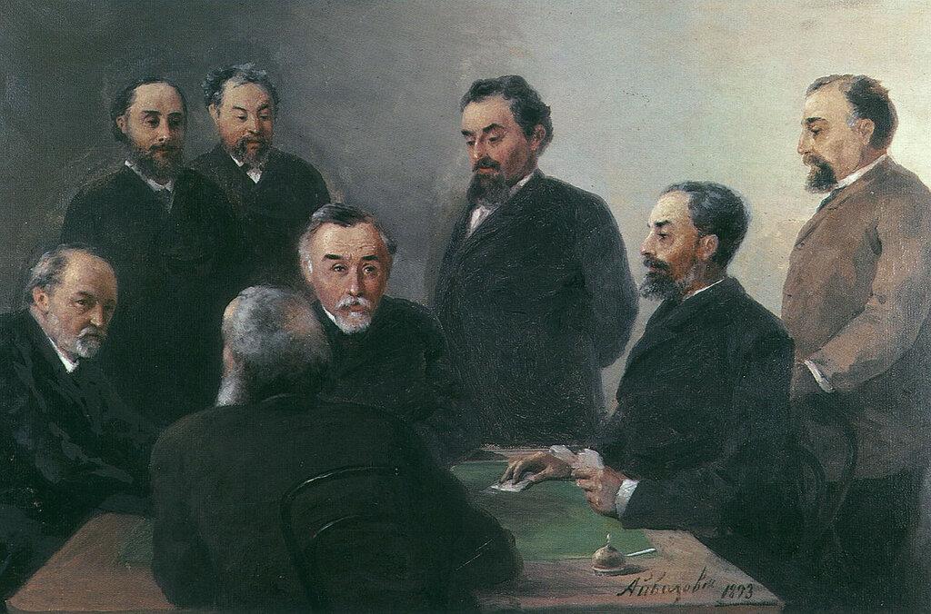 Айвазовский в кругу друзей