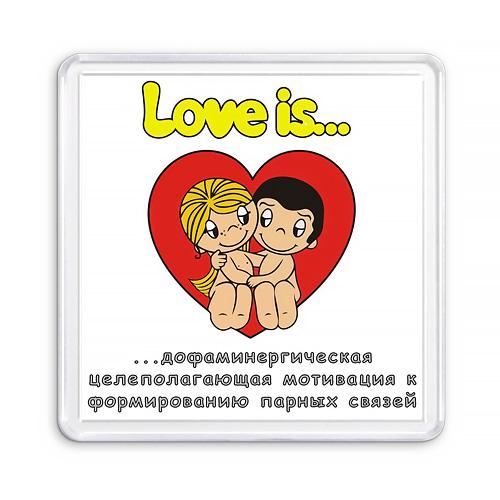 Магнит сувенирный Love Is