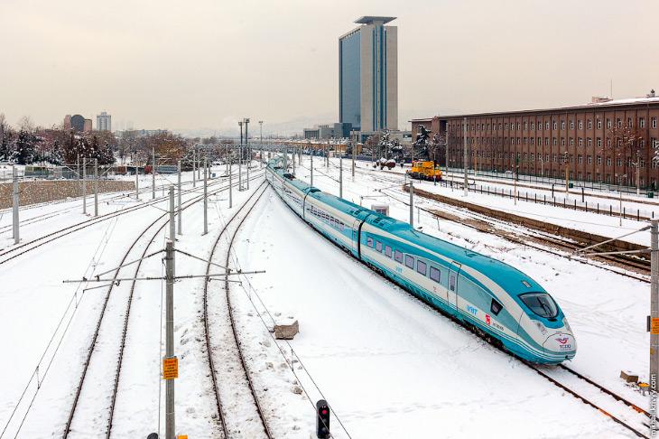 Высокоскоростные железные дороги Турции (43 фото)