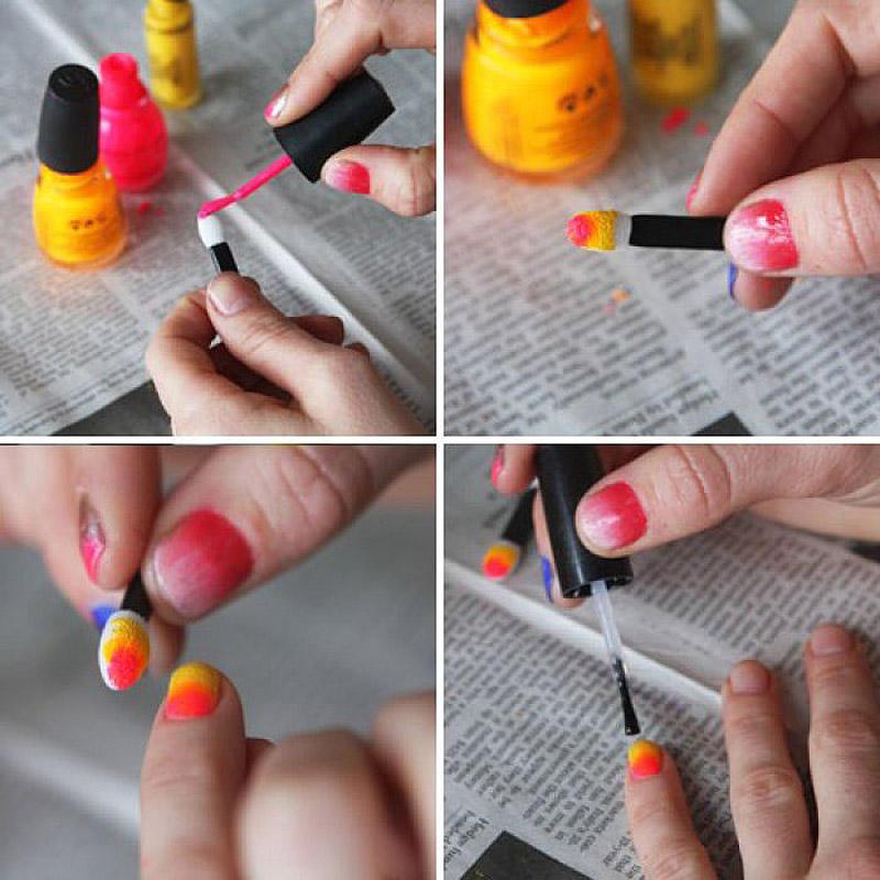 10. Кисточки для нанесения теней станут отличным удобным инструментом для создания «цветного перелив