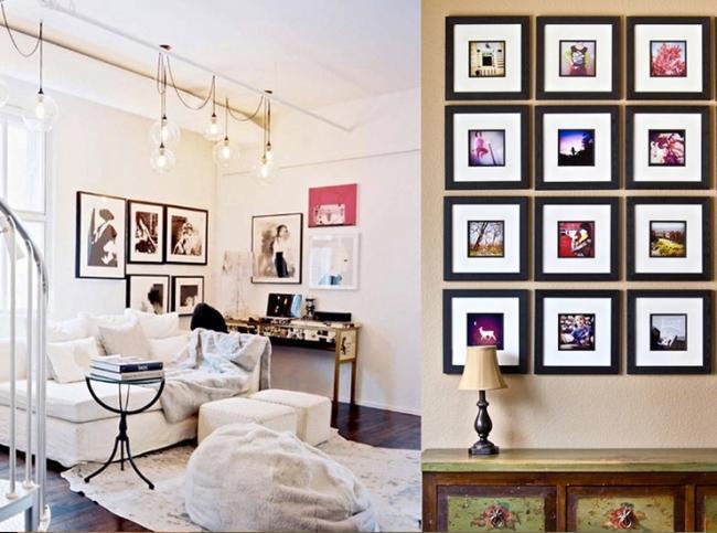 9. Картины, эстампы, гравюры, фотографии и постеры обрамляйте в простые, но глубокие рамы со стеклом