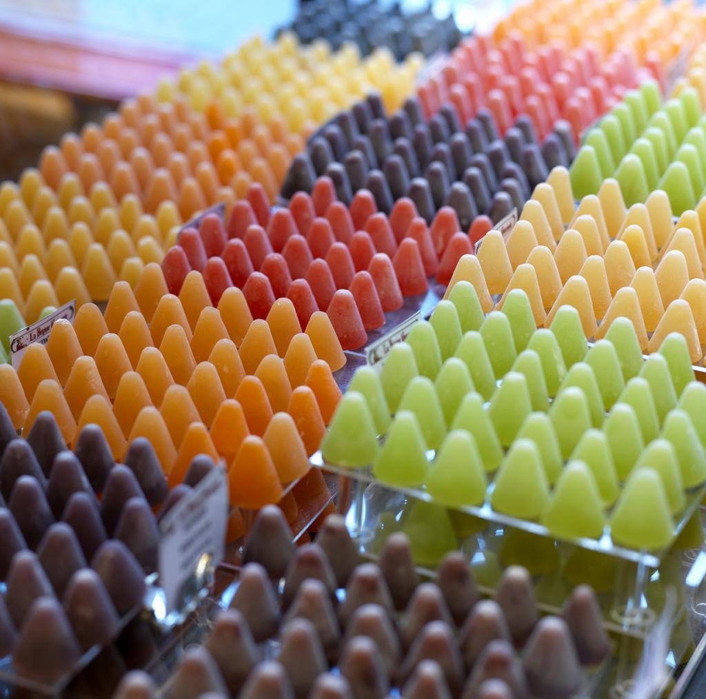 Кубердон — желеобразные конфеты конусной формы. (VISITFLANDERS)