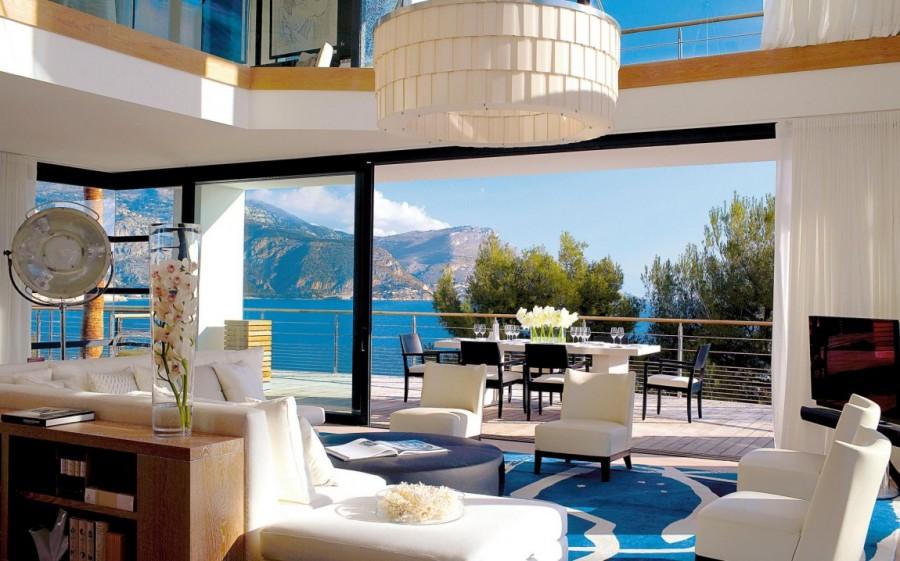 Роскошная вилла Вилла О (Villa O) в Сен-Жан-Кап-Ферра — французский курорт на выступающем в море мыс