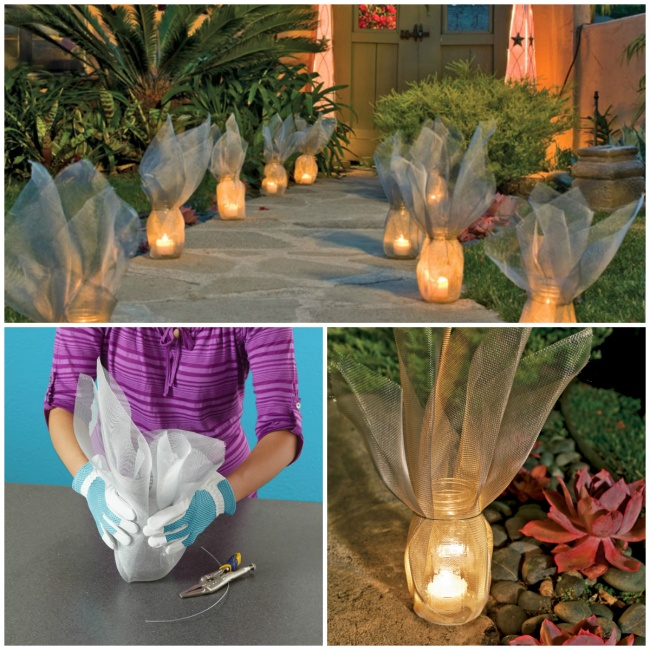 Красивый инесложный висполнении светильник для сада. Инструкция .