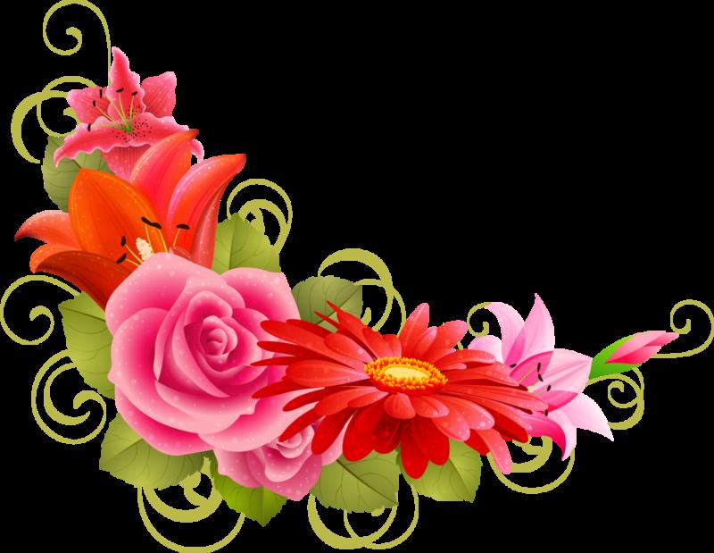 Для клипов, цветочки для украшения открыток