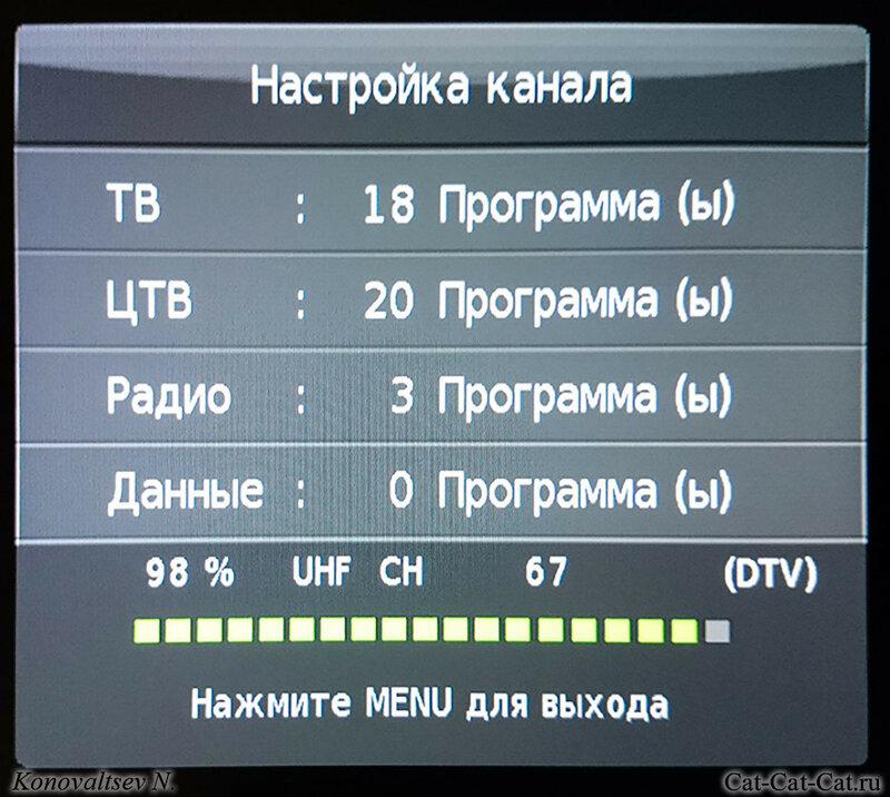 Настройка каналов в телевизоре DEXP F24B7100K