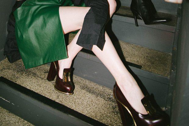Left Girl: Jacket: Karl Lagerfeld Dress: Antonia Goy Body: La Perla Corset: Dolce&Gabbana Necklace: