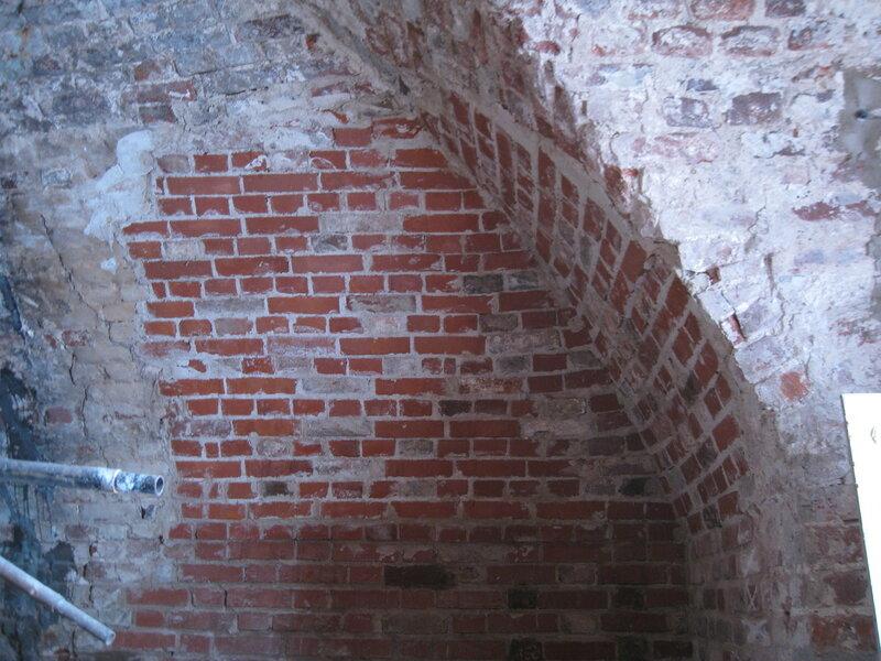 5. Восстановленный угол свода. Поваренный корпус 1570-х гг