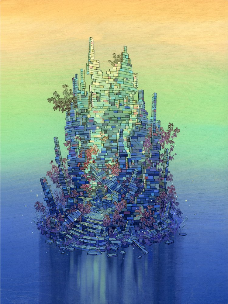 Colorful Constructs - Nicole Gustaffson's lego Inspired Art Show at Gallery 1988