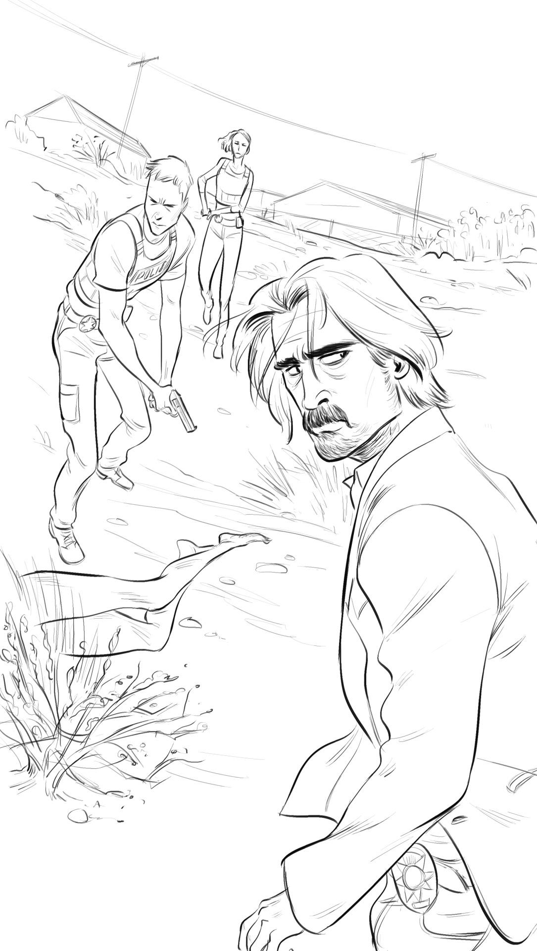 True Detective Season 2 Washington Post Illustrations by Kenny Park