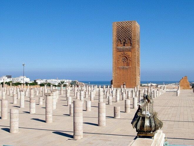 Башня Хасана. Марокко