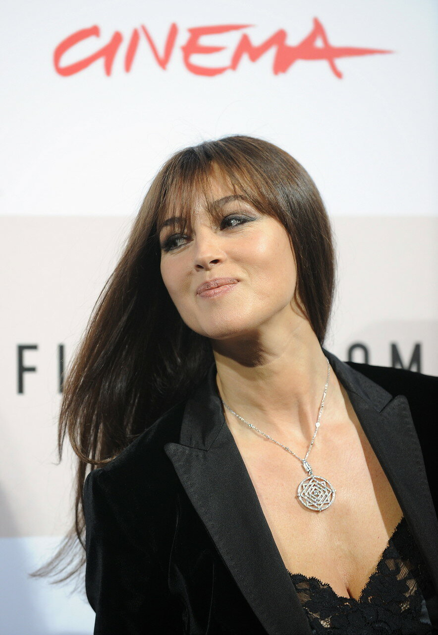 Italian actress Monica Bellucci poses during the photocall for her mo