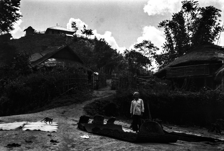 898. Нансхан. Вид из деревни на бунгало