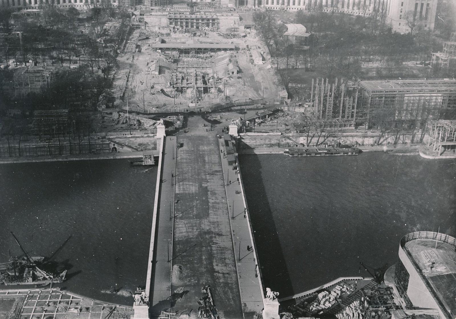 Строительство Дворца Шайо и экспланады