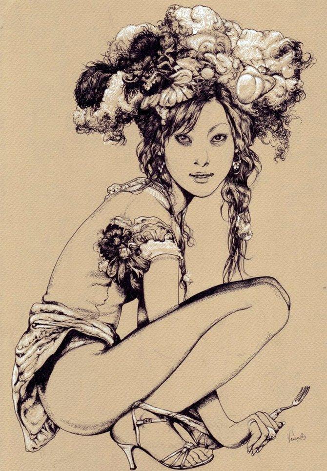 Рисунки на тему мода и секс фото 239-373